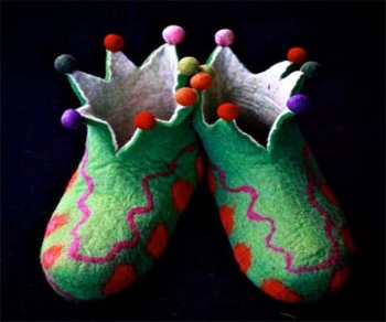 Spike Crown Felt shoe